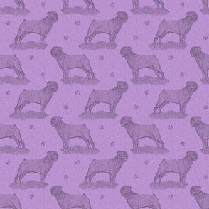 Rottweiler standing stamp - purple