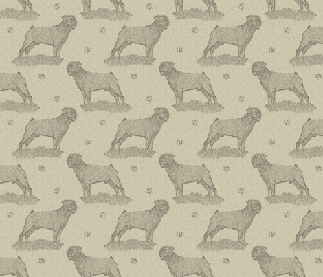 Rottweiler standing stamp - tan