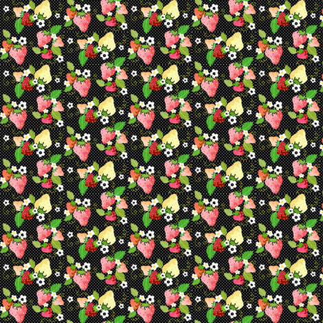 Strawberry Dots fabric by graceful on Spoonflower - custom fabric