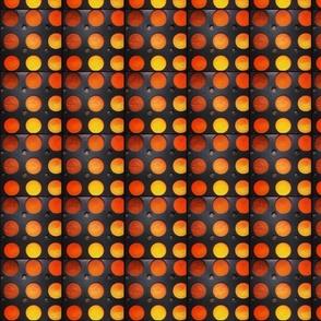 Orange   Yellow polka dots