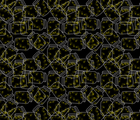 lanterns_in_the_night fabric by suziwollman on Spoonflower - custom fabric