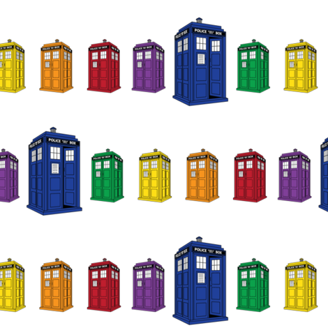 Tardis Spectrum fabric by swanstardesigns on Spoonflower - custom fabric