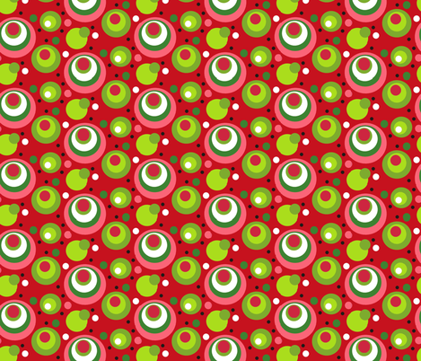 Mod_Red_Polkas fabric by kelly_a on Spoonflower - custom fabric