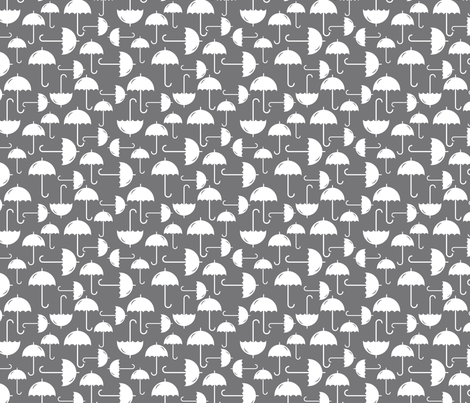 White Umbrellas allover fabric by newmom on Spoonflower - custom fabric