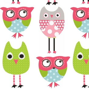 Whimsy Owls with Grey