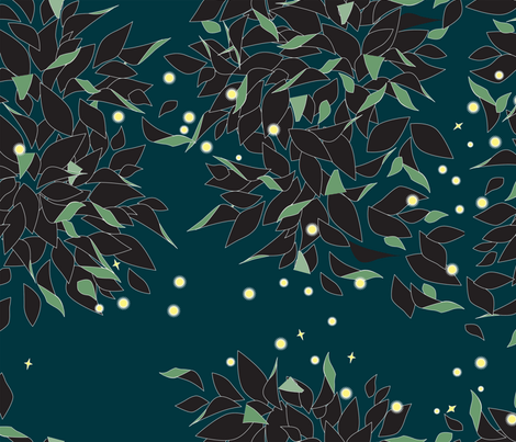 Firefly Swirl fabric by heatherdoodle on Spoonflower - custom fabric