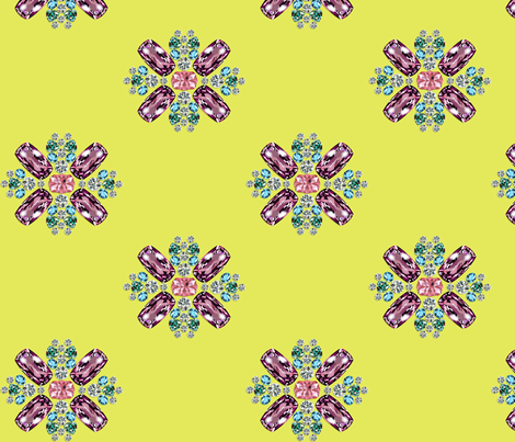 Maison Matthew Gallagher ~ Citron ~ 5 inch fabric by peacoquettedesigns on Spoonflower - custom fabric