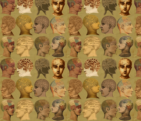 Head Cases 2 fabric by marchhare on Spoonflower - custom fabric