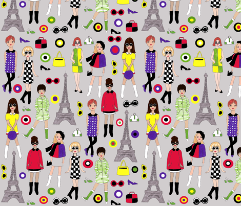 Paris Mod Fashion fabric by meghanwallace on Spoonflower - custom fabric