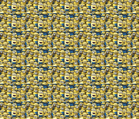 Minions funtime fabric by bowdiva on Spoonflower - custom fabric