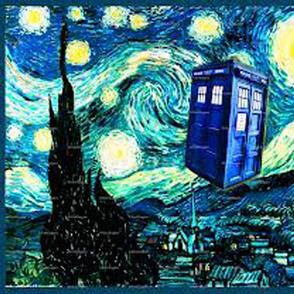 Starry Night Doctor Who Tardis