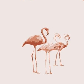peachy flamingos