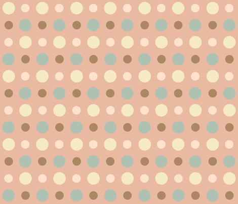 CORAL_JADE_DOT fabric by mammajamma on Spoonflower - custom fabric