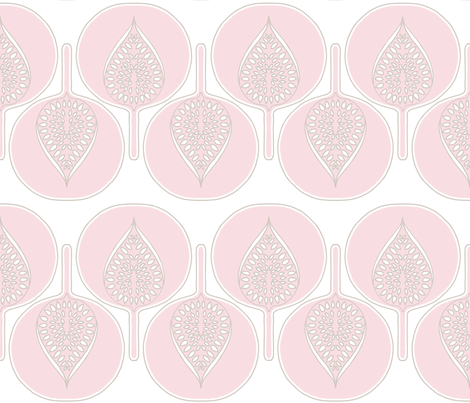 tree_hearts_pink fabric by holli_zollinger on Spoonflower - custom fabric