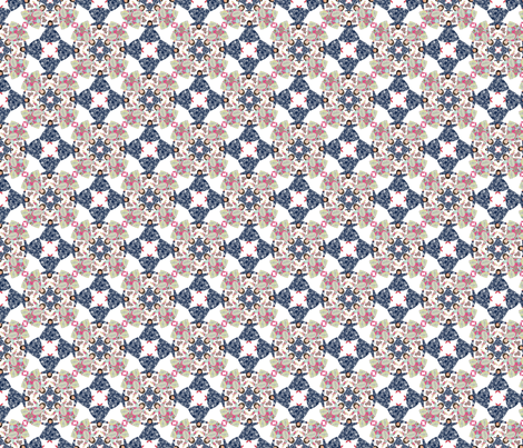 flora_circle_2 fabric by lfntextiles on Spoonflower - custom fabric