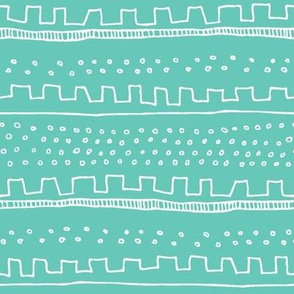 Horizontal Teal Stripe