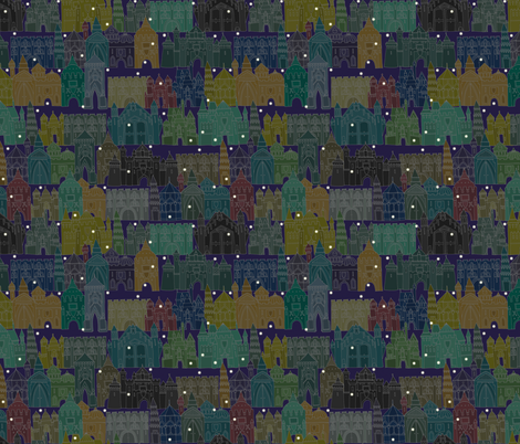castle avenue night fabric by scrummy on Spoonflower - custom fabric