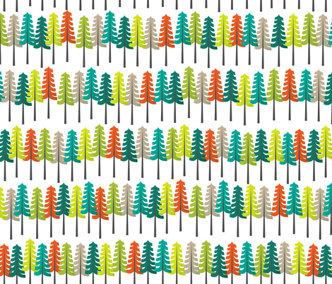 Colorful Woodland - Large fabric by joyfulroots on Spoonflower - custom fabric