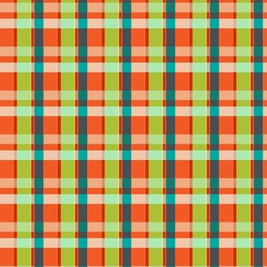 Plaid Lumberjack - Orange and Lime