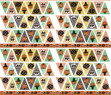 Halloween Bunting fabric by heidikenney on Spoonflower - custom fabric