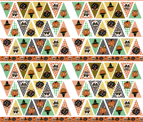 Halloween Bunting fabric by heidikenney on Spoonflower - custom fabric