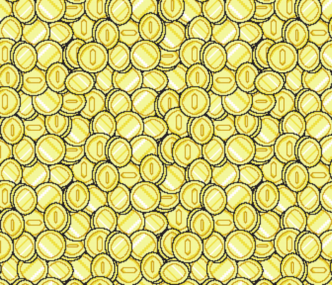 Insert Coin fabric by jmckinniss on Spoonflower - custom fabric