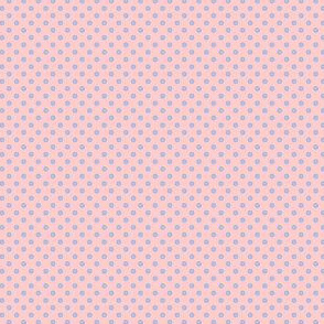 Dottie pink with blue