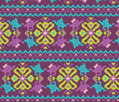 8-bit Love fabric by rachelee_design on Spoonflower - custom fabric