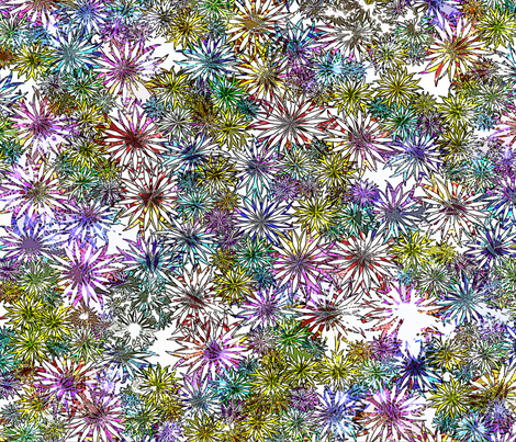 Flowery Power fabric by glanoramay on Spoonflower - custom fabric