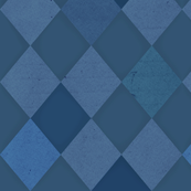 Harlequin Check Blue