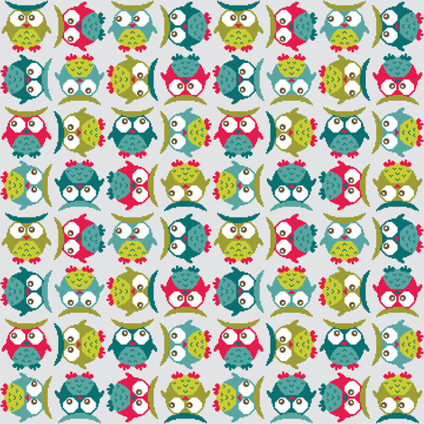 8bit Uhuuu fabric by ebygomm on Spoonflower - custom fabric