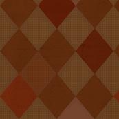 Harlequin Check Brown