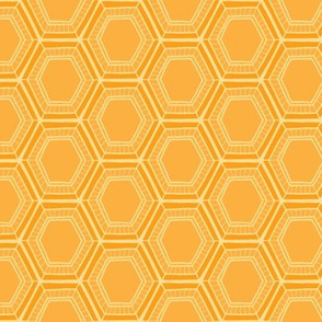 Yellow Honeycomb Floral