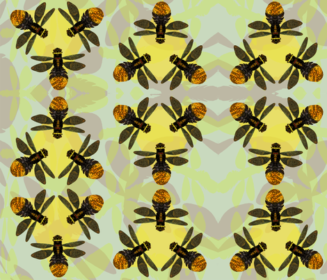 Firefly fabric by projectbunnyart on Spoonflower - custom fabric