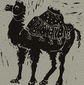 Black Camel with texture