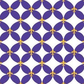 LSU Fleur de Lis Circle 2