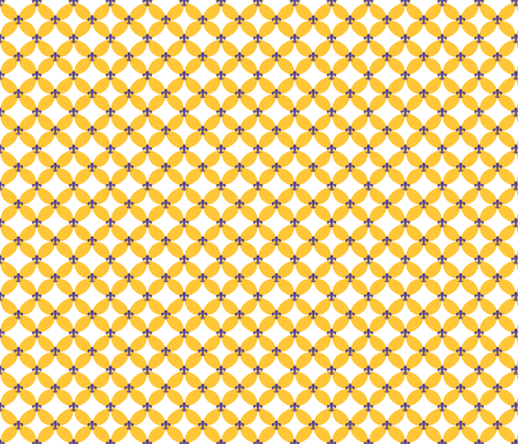 LSU Fleur de Lis Circle fabric by writefullysew on Spoonflower - custom fabric