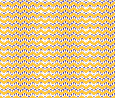 LSU Chevron 4 fabric by writefullysew on Spoonflower - custom fabric