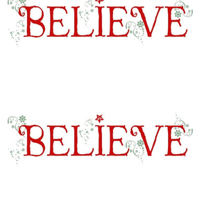 BELIEVE! Holiday Dec Fabric