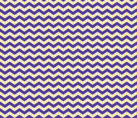 LSU Chevron 1 fabric by writefullysew on Spoonflower - custom fabric