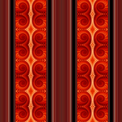 Orange Spirals Panel