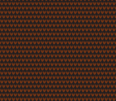 brown beard fabric by kristin82lude93 on Spoonflower - custom fabric