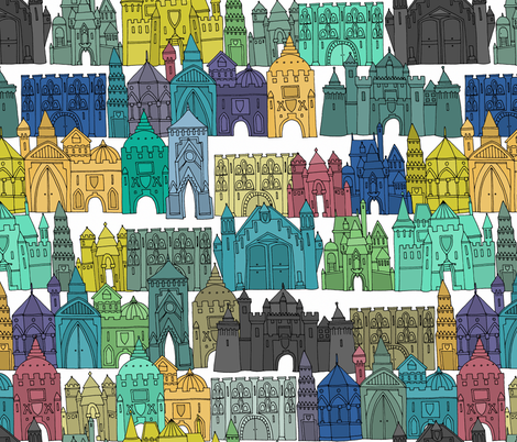 castle avenue day (larger) fabric by scrummy on Spoonflower - custom fabric