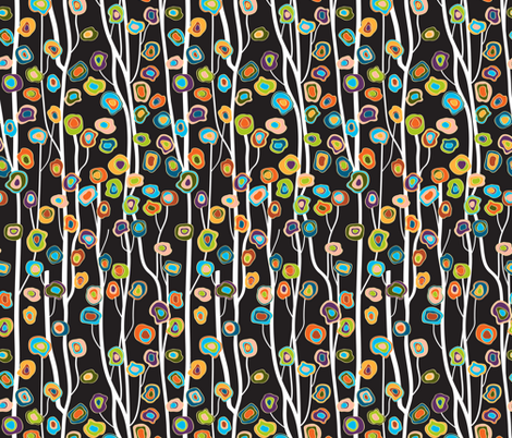 Night Garden fabric by mag-o on Spoonflower - custom fabric