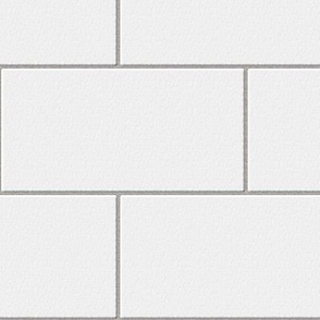 subway tile - white