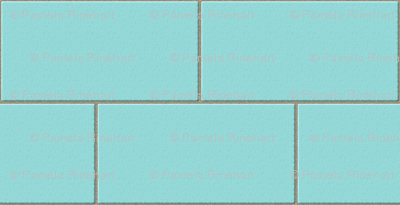 subway tile - robins egg blue