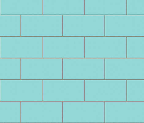 subway tile - robins egg blue fabric by glimmericks on Spoonflower - custom fabric