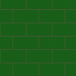 subway tile - sherwood forest green
