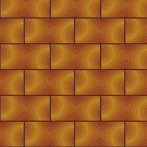 subway tile - wavy orange