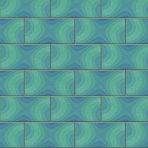 subway tile - wavy ocean